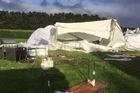 Video of aftermath of destructive winds on a South Taranaki couple's wedding marquee
