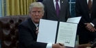Watch: Watch: Trump signs executive order to pull USA from TPP