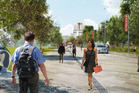 An artist's impression of what the new entrance of the University of Canterbury will look like when its campus master plan has been completed. Photo /  Supplied