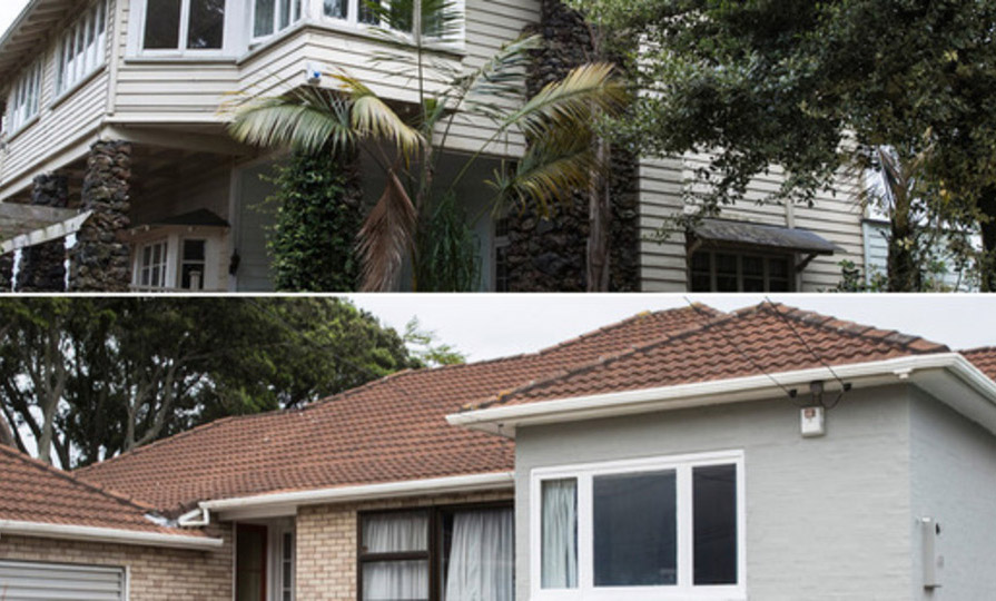 The two properties on Coronation Rd, Mangere Bridge. Photo / Supplied