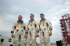 NASA's Apollo 1 crew was named on March 21, 1966. Left to right are astronauts Virgil Grissom, Edward White and Roger Chaffee. Photo / Nasa