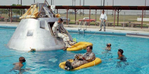 The Apollo 1 crew go through training drills prior to the tragic accident. Photo / Nasa