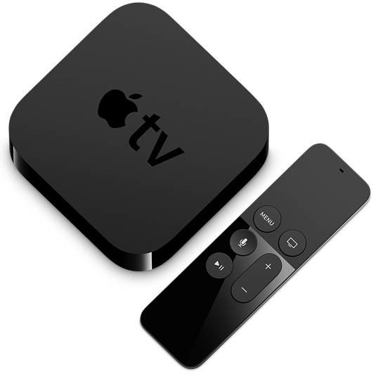 Included with the product is a small, thin remote control that isn't overloaded with mystery buttons you are scared to push for fear of changing settings. Photo / Apple TV website