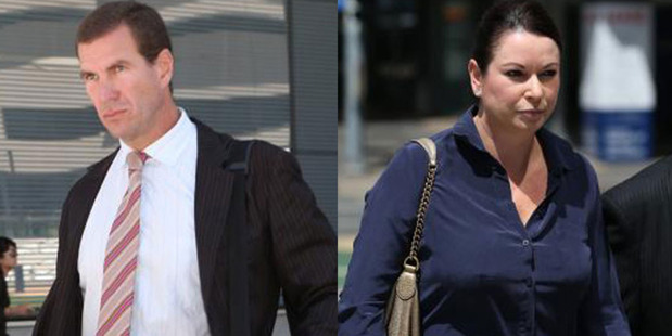 Former Billabong boss Matthew Perrin and ex-wife Nicole Bricknell. Photos / News.com.au
