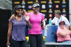 The sister act of Serena (left) and Venus Williams will continue a dynasty that has lasted the best part of 20 years. Photo / Doug Sherring