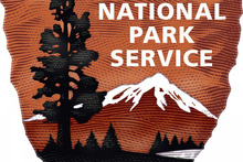 The NPS arrowhead is the agency's emblem. It features a Sequoia tree, mountains and a bison. Photo / National Park Service.