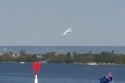 Source: Facebook / Meaghan Hill.    A stunt plane stalled and plunged into a river in western Australia yesterday as thousands of people gathered for an annual Australia Day fireworks display, killing the pilot and the only passenger, police said.  The plane broke up as it hit Perth's Swan River in front of the horrified onlookers.