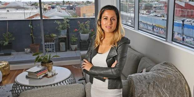 Diana Sayed, 32, recently saved up a 20 per cent deposit to buy her first two bedroom, two bathroom home. Photo / Tim Carrafa, News Corp Australia