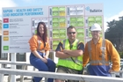 Safety health and environment committee members Paula Bayly, Damien Nottage and Darren Bolger.