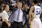 Golden State coach Steve Kerr is enjoying manipulating his numbers, following the lead of new US President Donald Trump. Photo / AP