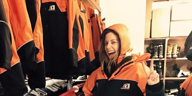 Gin Wigmore tries her Antarctica gears on for size in preparation for the 60th anniversary of Scott Base. Photo / Gin Wigmore/Facebook