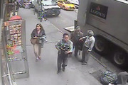 The man swiped a bucket full of gold flakes off the back of a truck in the middle of Manhattan. Photo / NYPD