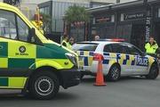 Police have cordoned off an area of Hamilton CBD. Photo / Nikki Preston