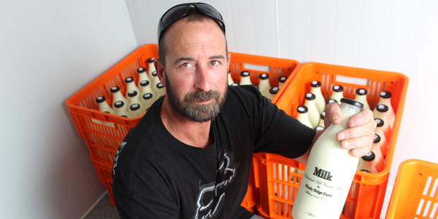 Dairy farmer Andrew Moir has started selling fresh pasteurised full cream milk in the Clutha District just like it was in the 'good old days'. Photo / Samuel White