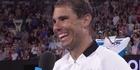 Watch: Watch: Rafael Nadal's joking interview shutdown over girlfriend at Australian open