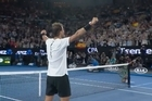 Source: Twitter / Australian Open.   The stage is set for a massive final, as Rafael Nadal gets through to face his long-time rival Roger Federer in the Australian Open.