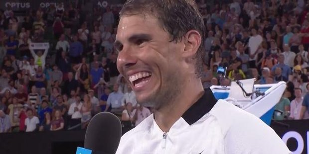 Watch Rafael Nadal's joking interview shutdown over girlfriend at Australian