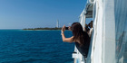 Amedee Island is home to France's first metal lighthouse. Photo / Neville Marriner