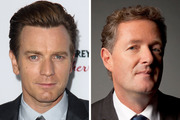 Ewan McGregor, left, refused to appear Good Morning Britain after learning Piers Morgan was a host. Photos/AP