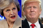 Theresa May is meeting with Donald Trump in the White House tomorrow. Photos / AP