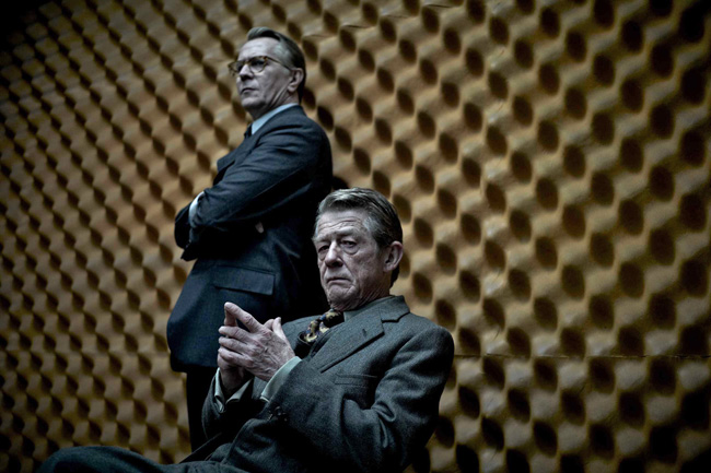 Hurt, foreground, with Gary Oldman in Tinker, Tailor, Soldier, Spy. Photo / Supplied