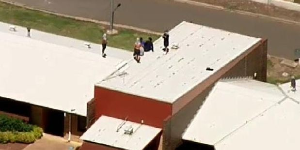 The riot broke out at Malmsbury Youth Justice Centre in Victoria. Photo / Channel 9