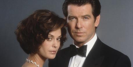 Irish actor Pierce Brosnan stars as 007 opposite actress Teri Hatcher as Paris Carver in the James Bond film 'Tomorrow Never Dies' 1997. Photo / Getty
