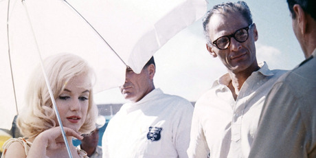 Marilyn Monroe and screenwriter Arthur Miller on set of the film 'The Misfits', 1961. Photo / Getty