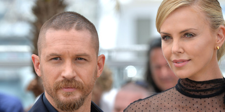 Tom Hardy and Charlize Theron attend the Mad Max: Fury Road photocall during the 68th annual Cannes Film Festival. Photo /  Getty