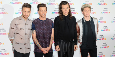 Liam Payne, Louis Tomlinson, Harry Styles and Niall Horan of One Direction attend the BBC Music Awards. Photo / Getty