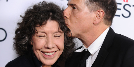 Actress Lily Tomlin and director David O. Russell. Photo / Getty