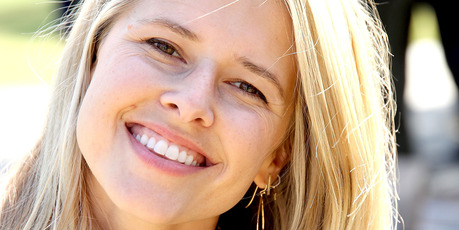 Actress Sarah Wright Olsen hosts a community garden in honor of Earth Day earlier this year. Photo / Getty