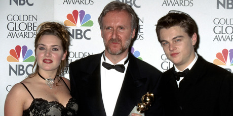 Kate Winslet, James Cameron, and Leonardo DiCaprio. Photo / Getty