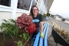 Sara Hamilton explains her garden at Totara Grove School