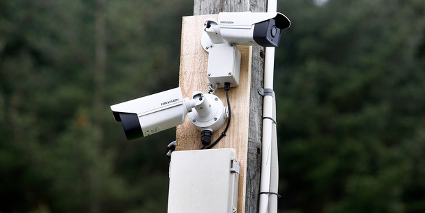 A number plate and standard CCTV camera helping to identify stock thefts on rural roads. Photo/ Bevan Conley