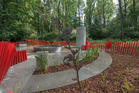 Passchendaele memorial garden built in NZ and shipped to Belgium. Photo/ Eric Compernolle