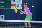 Petone's Sean Phegan claimed the under-12 boys singles title at the St Johns Club Junior Tournament in Whanganui on Tuesday. Photo / Bevan Conley