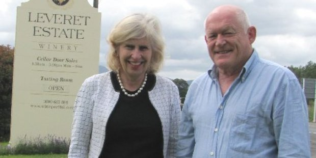 Leveret Estate owner John Coney with Fiona MacDiarmid are thrilled to win two gold medals.
