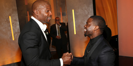Actor Terry Crews (L) and actor Kevin Hart attends the 45th NAACP Image Awards presented by TV One at Pasadena Civic Auditorium on February 22, 2014. Photo / Getty