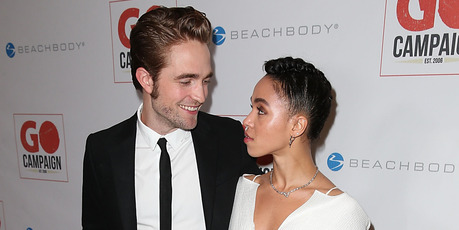 Actor Robert Pattinson (L) and FKA twigs attend the 8th Annual GO Campaign Gala at Montage Beverly Hills on November 12, 2015 in Beverly Hills, California. Photo / Getty