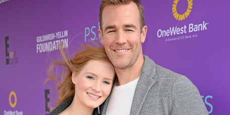 Kimberly Brook (L) and actor James Van Der Beek attend Express Yourself 2015. Photo / Getty