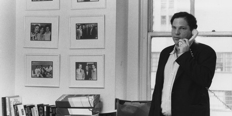American film producer Harvey Weinstein of Miramax Films at his office in New York City, 21st April 1989. Photo / Getty