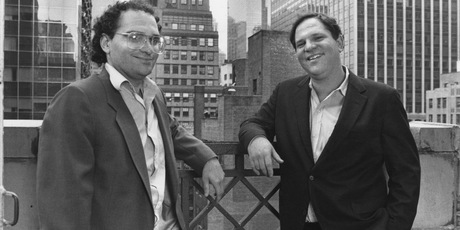 American film producers Bob Weinstein and his brother Harvey Weinstein of Miramax Films, New York City, 1989. Photo / Getty