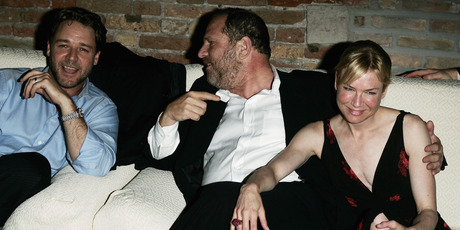 (L to R) Actor Russell Crowe, producer Harvey Weinstein and actress Renee Zellweger attend an after party. Photo / Getty