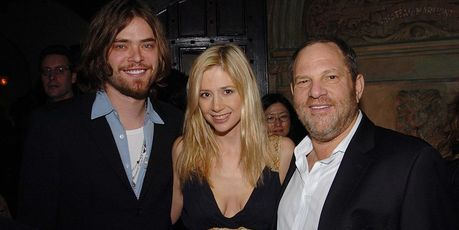 Chris Backus, Mira Sorvino and Harvey Weinstein attend HBO's Annual Pre-Golden Globes Party. Photo / Getty Images