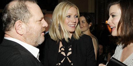 Head of The Weinstein Company Harvey Weinstein, actress Gwyneth Paltrow, and actress Liv Tyler attend the after-party for Iron Man. Photo / Getty