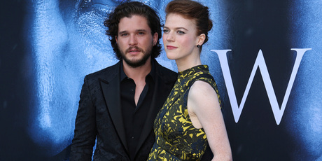 Kit Harington and Rose Leslie announced their engagement last month. Photo / AP