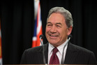 Winston Peters is pleased with how coalition talks are progressing. Photo / Mark Mitchell