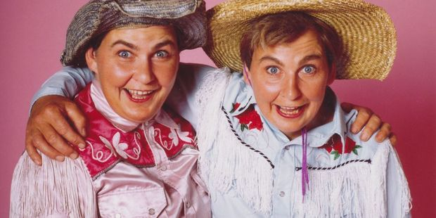 RURAL CHARM: The Topp Twins as The Gingham Sisters. PHOTO: SALLY TAGG, COURTESY DIVA PRODUCTIONS