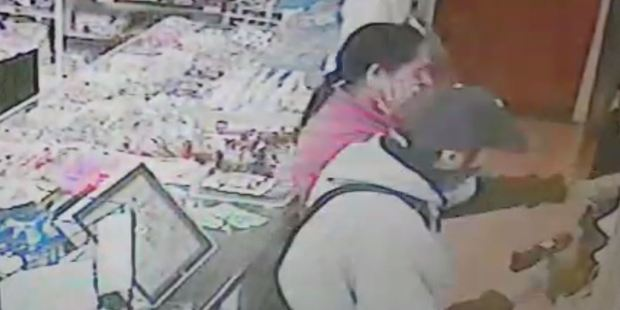 Loading Ushi Patel was dragged by her wrist to the counter by the men, their faces covered in bandanas. Photo / Supplied